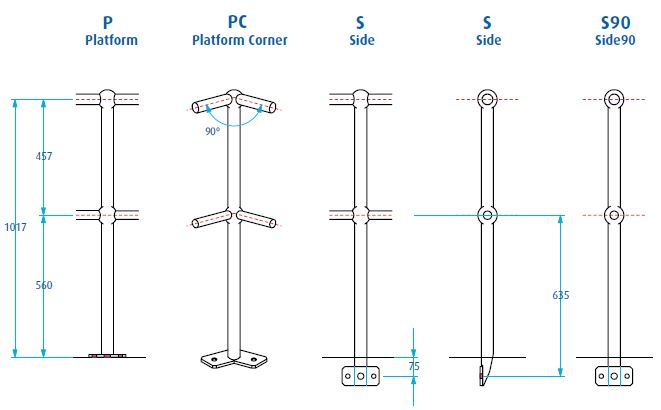 Handrail Amp Stanchion Components