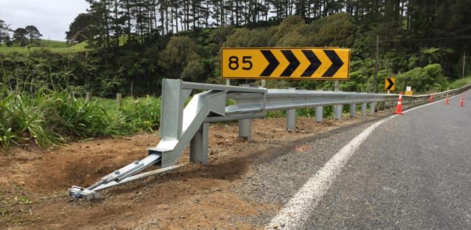 SoftStop MASH guardrail end-terminal