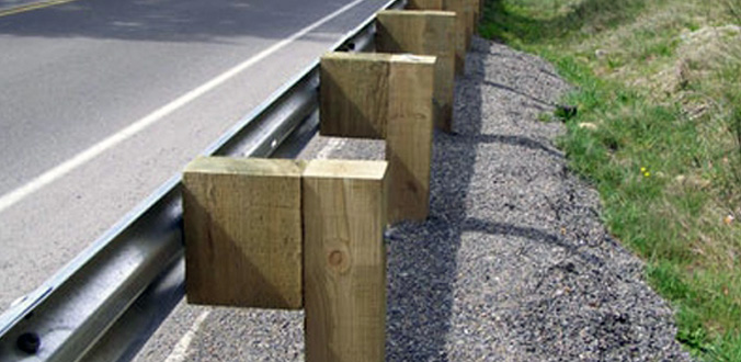 timber post guardrail