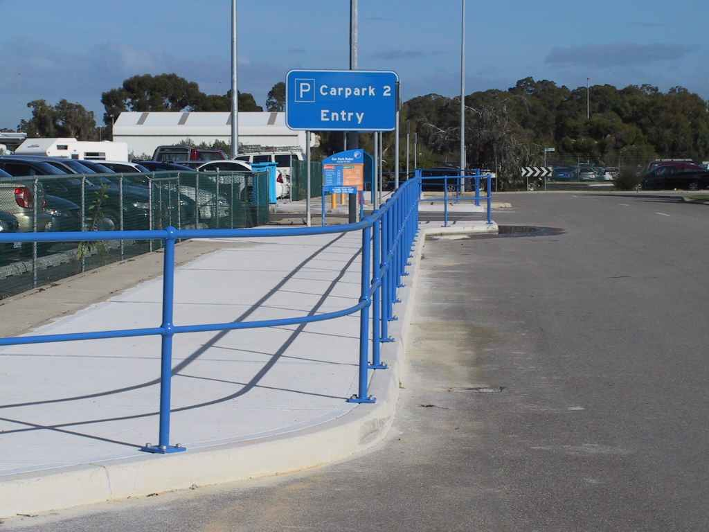 Perth Airport handrail