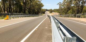 Picton Road - mash median barrier