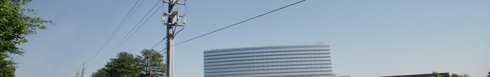 utility monopole along city