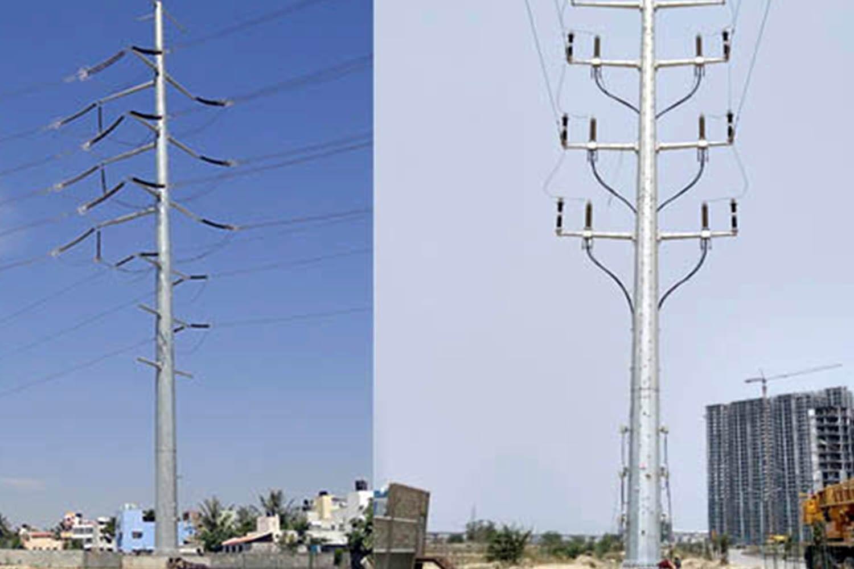 Transmission-poles