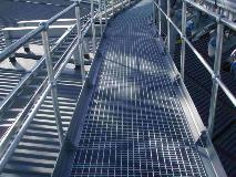 Auckland Football stadium_NZ_Steel Grating_Monowills Handrail