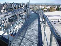 Auckland Football Stadium_NZ_Steel Grating_Handrail