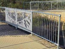 balustrade in Winthrop_WA incl laser cut infil