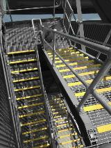 Power Station Stairway_Stair treads_Grating_Handrail